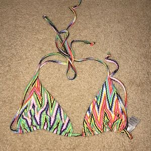 Lspace multicolor bikini top size XS worn once!